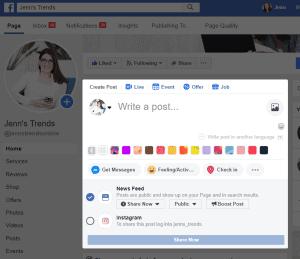 crossposting, facebook, instagram, social media marketing, facebook advertising